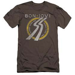 Bon Jovi - Mens Slippery When Wet World Tour Premium Slim Fit T-Shirt
