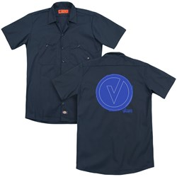 The Vamps - Mens Frayed Patch (Back Print) Work Shirt
