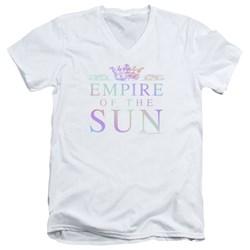 Empire Of The Sun - Mens Rainbow Logo V-Neck T-Shirt