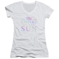 Empire Of The Sun - Juniors Rainbow Logo V-Neck T-Shirt