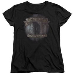 Bon Jovi - Womens New Jersey T-Shirt
