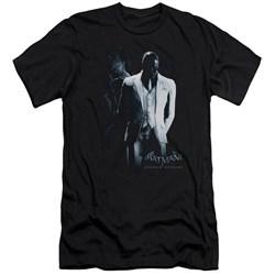 Batman Arkham Origins - Mens Black Mask Premium Slim Fit T-Shirt