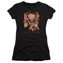 Betty Boop - Juniors Sunset Rider Premium Bella T-Shirt
