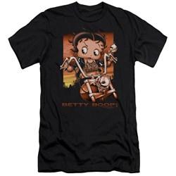 Betty Boop - Mens Sunset Rider Premium Slim Fit T-Shirt