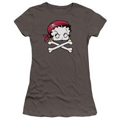 Betty Boop - Juniors Pirate Premium Bella T-Shirt