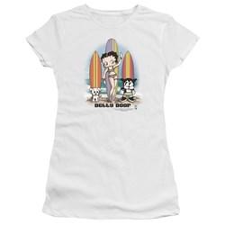Betty Boop - Juniors Surfers Premium Bella T-Shirt
