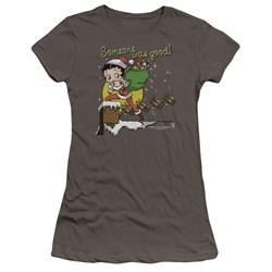 Betty Boop - Juniors Chimney Premium Bella T-Shirt