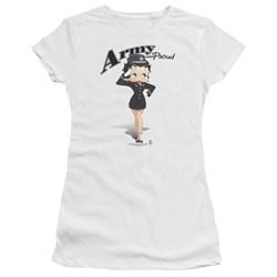 Betty Boop - Juniors Army Boop Premium Bella T-Shirt
