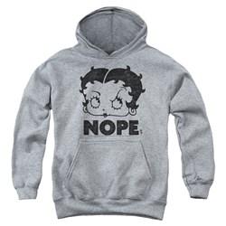 Betty Boop - Youth Boop Nope Pullover Hoodie