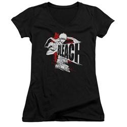 Bleach - Juniors Sword Drawn V-Neck T-Shirt