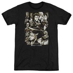 Bleach - Mens Slice Ringer T-Shirt