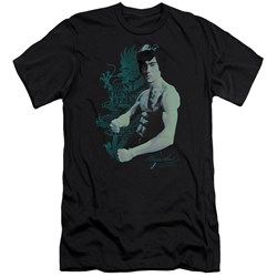 Bruce Lee - Mens Feel Premium Slim Fit T-Shirt