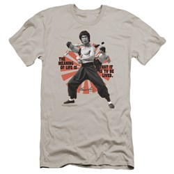 Bruce Lee - Mens Meaning Of Life Premium Slim Fit T-Shirt