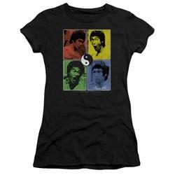 Bruce Lee - Juniors Enter Color Block Premium Bella T-Shirt