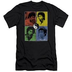 Bruce Lee - Mens Enter Color Block Premium Slim Fit T-Shirt