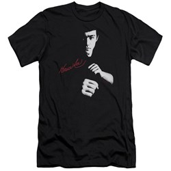 Bruce Lee - Mens The Dragon Awaits Premium Slim Fit T-Shirt