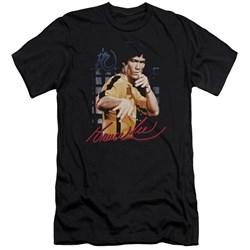 Bruce Lee - Mens Yellow Jumpsuit Premium Slim Fit T-Shirt
