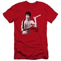 Bruce Lee - Mens Nunchucks Premium Slim Fit T-Shirt