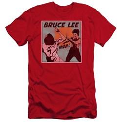 Bruce Lee - Mens Comic Panel Premium Slim Fit T-Shirt