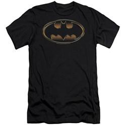 Batman - Mens Black & Gold Embossed Premium Slim Fit T-Shirt