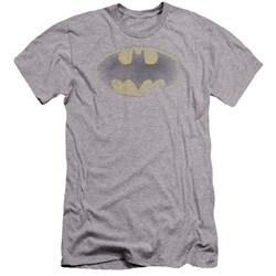 Batman - Mens Faded Logo Premium Slim Fit T-Shirt
