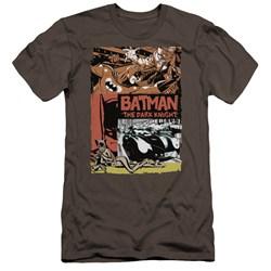 Batman - Mens Old Movie Poster Premium Slim Fit T-Shirt