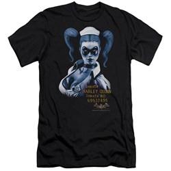 Batman Aa - Mens Arkham Harley Quinn Premium Slim Fit T-Shirt