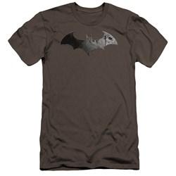 Arkham City - Mens Bat Logo Premium Slim Fit T-Shirt