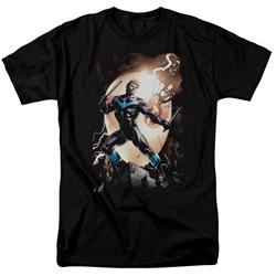 Batman - Mens Nightwing Against Owls T-Shirt