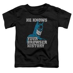Batman - Toddlers Batman Knows T-Shirt