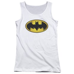 Batman - Juniors Airbrush Bat Symbol Tank Top