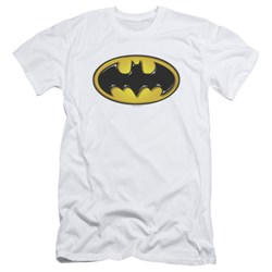 Batman - Mens Airbrush Bat Symbol Slim Fit T-Shirt