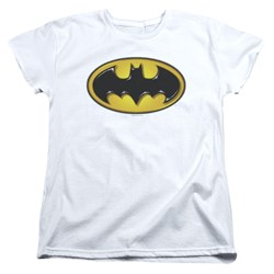 Batman - Womens Airbrush Bat Symbol T-Shirt