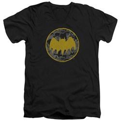Batman - Mens Vintage Symbol Collage V-Neck T-Shirt