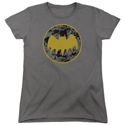 Batman - Womens Vintage Symbol Collage T-Shirt