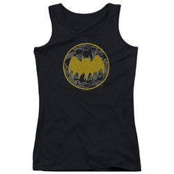 Batman - Juniors Vintage Symbol Collage Tank Top