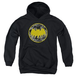 Batman - Youth Vintage Symbol Collage Pullover Hoodie