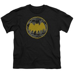 Batman - Youth Vintage Symbol Collage T-Shirt