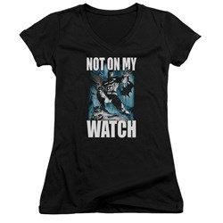 Batman - Juniors Not On My Watch V-Neck T-Shirt