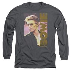 David Bowie - Mens Smokin Long Sleeve T-Shirt