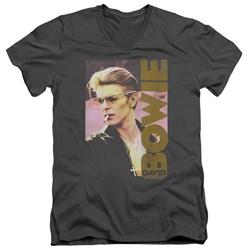 David Bowie - Mens Smokin V-Neck T-Shirt