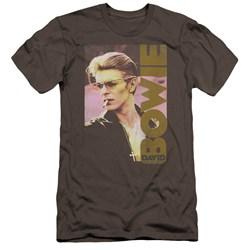 David Bowie - Mens Smokin Premium Slim Fit T-Shirt