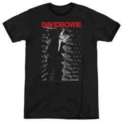 David Bowie - Mens Station To Station Ringer T-Shirt