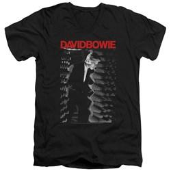 David Bowie - Mens Station To Station V-Neck T-Shirt
