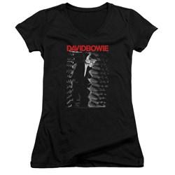 David Bowie - Juniors Station To Station V-Neck T-Shirt