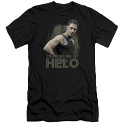 Bsg - Mens Had Me At Helo Premium Slim Fit T-Shirt