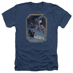 Bsg - Mens Poster Iron On Heather T-Shirt