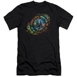 Battlestar Galactica (New) - Mens Emblem Knock-Out Premium Slim Fit T-Shirt