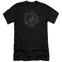 Battlestar Galactica (New) - Mens Faded Emblem Premium Slim Fit T-Shirt