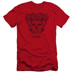 Cbgb - Mens Moth Skull Premium Slim Fit T-Shirt
